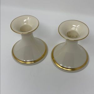 Lenox Accents - Lenox Candlesticks Vintage Gold Trim Made in USA!